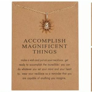 Jewelry - Accomplish Anything Gold Northern Star Necklace